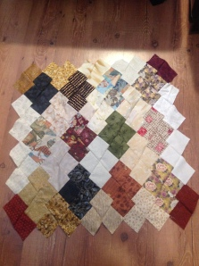 The top of my Japanese Jigsaw Quilt